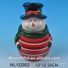 Hochwertige keramische Weihnachtsschneemann-Plätzchengläser