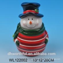 Biscuits en céramique de bonbon de bonhomme de neige de Noël de haute qualité
