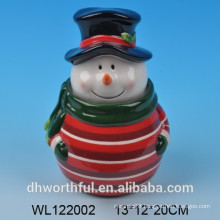 High quality ceramic Christmas snowman cookie jars
