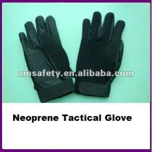 Guante táctico negro ZMR489 del guante del neopreno de encargo / del mecánico de cuero de la PU