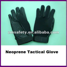 Black PU Leather Custom Neoprene Tactical Glove/Mechanic Glove ZMR489