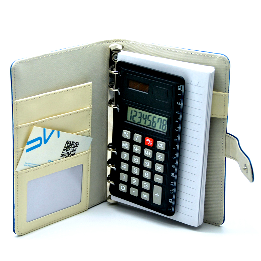 Leather A5 Size Notebook Calculator with Photo Frame