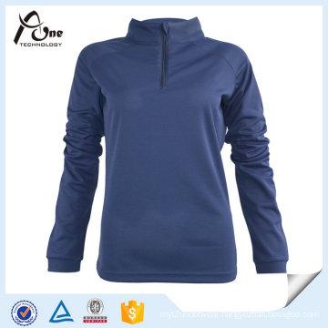 Blank 100% Polyester Long Sleeve Women Sports Wear