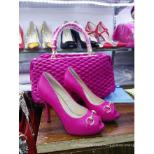 New Fashion Peep Toe High Heel Shoes with Matching Shoes (G-14)