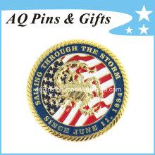 Moedas comemorativas do ouro da promoção do costume (coin-073)