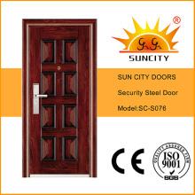 Высокое качество одной двери лист стальной (СК-S076)