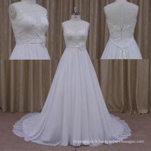 Usine Firectly vendre des robes de mariée dos nu 2013 en mousseline de soie