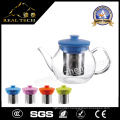 High Clear Handmade Borosilicate Glass Infuser Tea Pot