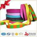 High quality custom wholesale printing weave cotton Satin ribbon