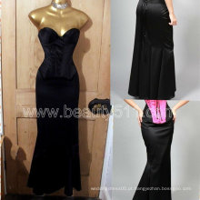 New Style Vintage 40s 50s estilo Satin Hollywood Wiggle Fishtail Diva Corset vestido saia GP011