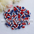 Shopping Fashion Round Smooth 8MM Chunky Spacer Resin Bead Wholesale Striped Resin Beads