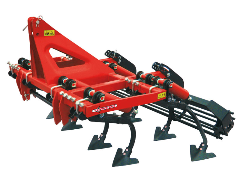 Red Rotary Tiller Cultivator