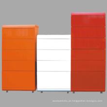 Elevado-lustroso cor do armário madeira gavetas armário de madeira