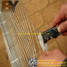 Red de cuerda de alambre flexible de resistencia a la corrosión para el crecimiento del trepador
