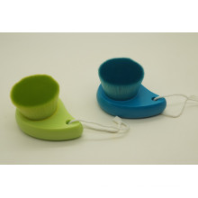 Brosse de nettoyage à poignée en plastique à étiquette privée