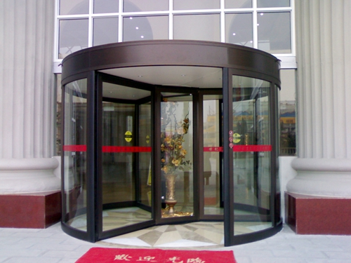 Ningbo GDoor Automatic Three Wing Revolving Doors for Commericial Buildings