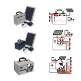 Solar Powered Lighting System Kit