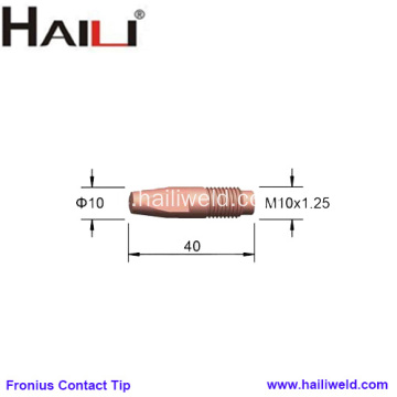 Fronius Welding Contact Tips M10x40mm pour AL4000