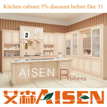 Rubens 2015 Customized PVC kitchen modern cabinet with good price