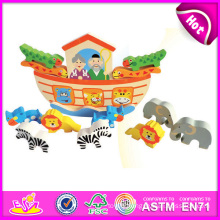 2014 New Design Wooden Block Set Balance Children Toy Set, Educational Children Toy Game, Animal Toy Children Toy W11f041