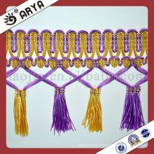 Stock et bordures et garnitures de rideaux de rideau à bas prix pour le canapé et le coussin