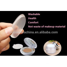 2017 Hot transparent powder puff washable foundation silisponge silicone sponge puff