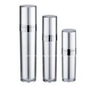 Botella y tarro de bomba sin aire de loción cosmética de aluminio