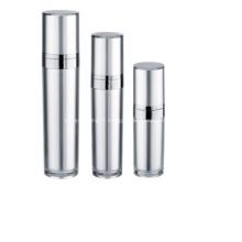 Bouteille et pot de pompe airless de lotion cosmétique en aluminium