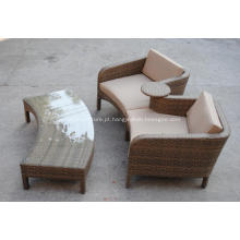 Sofá duplo alumínio exterior Chaise clássico
