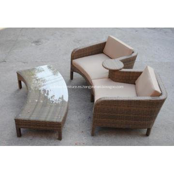 Sofá doble de aluminio calesa clásica al aire libre