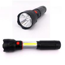 4 AAA batería de luz de trabajo LED 3W COB LED linterna retráctil