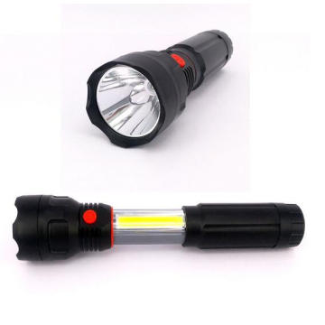 4 AAA Battery Powered LED Work Light 3W COB LED Retractable Flashlight