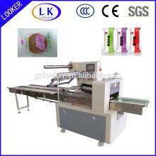 Máquina de embalagem horizontal do fluxo para a embalagem contínua regular do saco do descanso do objeto