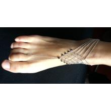 Simple Anklets with Metal Tassel