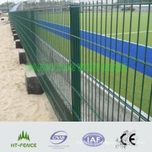 Panel recubierto PVC de la cerca soldada