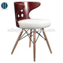 2016 New design wooden restaurant dining chairs make in Foshan