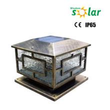 Iluminación al aire libre luz de Pilar solar de CE; Pilar de la puerta del jardín iluminación; luces solar Pilar