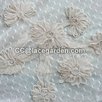 Mesh Material Ribbon Embroidery Fabric