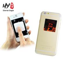 Custom design smartphone sticky microfiber adhesive screen cleaner