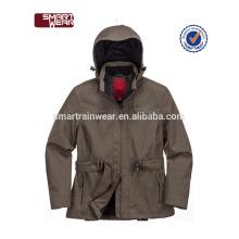 Homens jaqueta de poliéster 100% personalizado mais recente à prova d'água