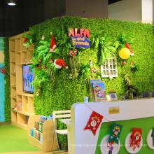 12 piezas 50 x 50 cm DIY personalizada fresca follaje artificial PE privacidad para la tienda de decoración