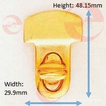 Bolso de aleación de zinc Tipo de metal Cerradura giratoria en forma de T