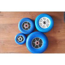 Резиновые колеса PU пены для тележки, тачки, популярные!