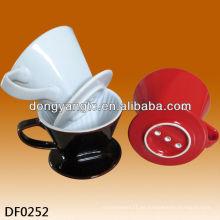 Filtro de café de cerámica al por mayor, tenedor del filtro de café, filtros de café condimentados
