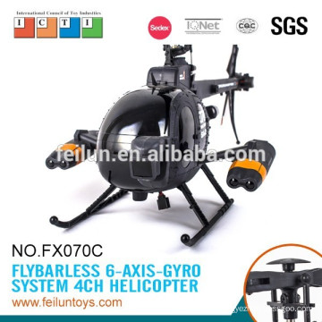 Cool helicopter fx070c big 2.4g 4ch flybarless r/c helicopter with gyro