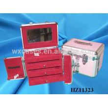 Kosmetikkoffer Aluminium Haar Stylistin mit 3 Schubladen im Inneren von China-Hersteller