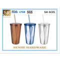 450ml Double parede de aço inoxidável caneca de café (SH-SC05)
