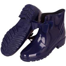 Girl's Blue Color Waterproof Rubber Bow Rain Boots Anti Slip Garden Shoes