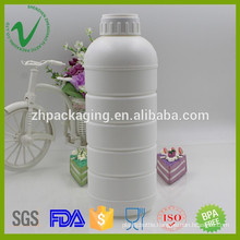 1liter top quality HDPE liquid chemical plastic bottle with proof cap