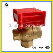 Válvula de motor de latão CWX-1.0A de 3 vias de 1/2 polegadas para serviço de aspersão de vôo a incêndio, bobina de ventilador e sistema de ciclo de água quente